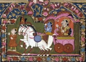 Arjuna sul carro