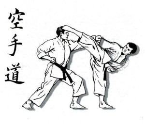 Karate kumite-Foto disegno
